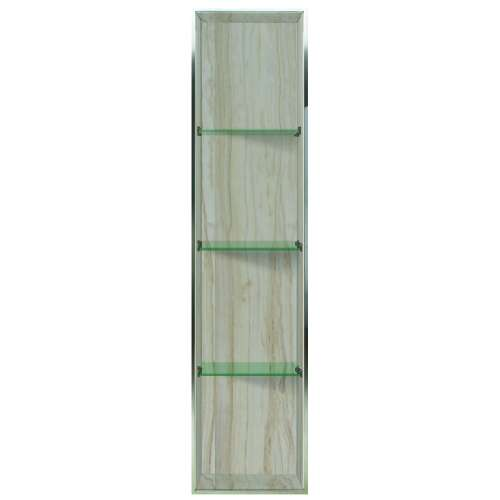 Transolid Expressions 58.5-in. Recessed Expressions Composite Material Shower Storage Pod STV25814-SS43