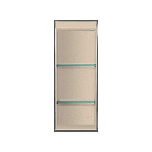 Transolid Studio 34.5-in. Recessed Solid Surface Shower Storage Pod STVL3414-SS67