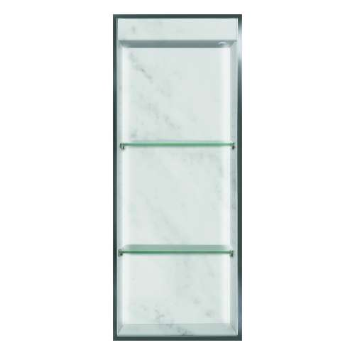 Transolid Studio 34.5-in. Recessed Solid Surface Shower Storage Pod STVL3414-SS91