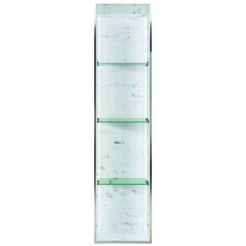 Transolid Saramar 58.5-in. Recessed SaraMar Material Shower Storage Pod STVL5814-SS47