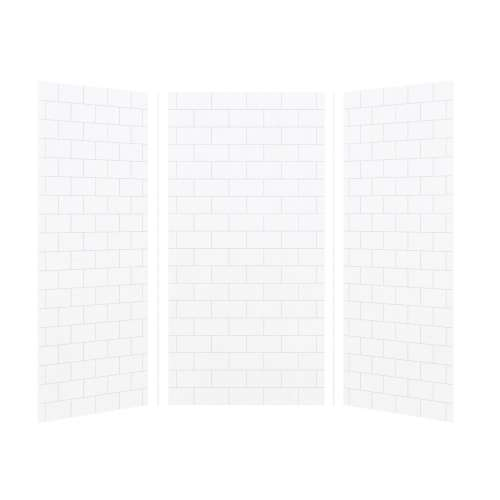 Transolid SaraMar 36-In X 36-In X 72-In Glue to Wall 3-Piece Shower Wall Kit - In Multiple Colors
