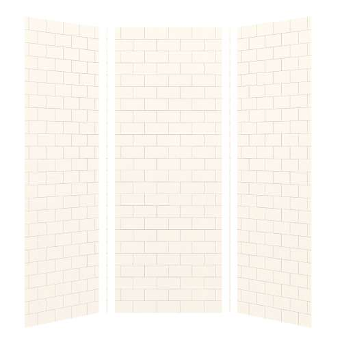 Transolid SaraMar 36-In X 36-In X 96-In Glue to Wall 3-Piece Shower Wall Kit - In Multiple Colors