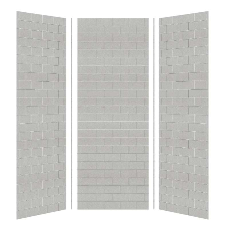 Transolid SaraMar 36-In X 36-In X 96-In Glue to Wall 3-Piece Shower Wall Kit