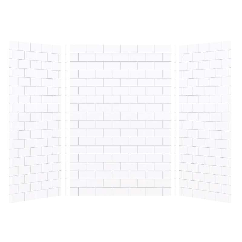 Transolid SaraMar 36-In X 48-In X 72-In Glue to Wall 3-Piece Shower Wall Kit - In Multiple Colors