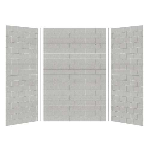 Transolid SaraMar 36-In X 48-In X 72-In Glue to Wall 3-Piece Shower Wall Kit
