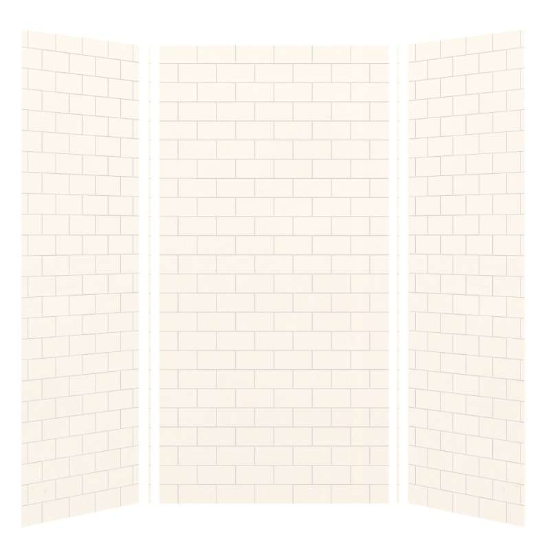 Transolid SaraMar 36-In X 48-In X 96-In Glue to Wall 3-Piece Shower Wall Kit - In Multiple Colors
