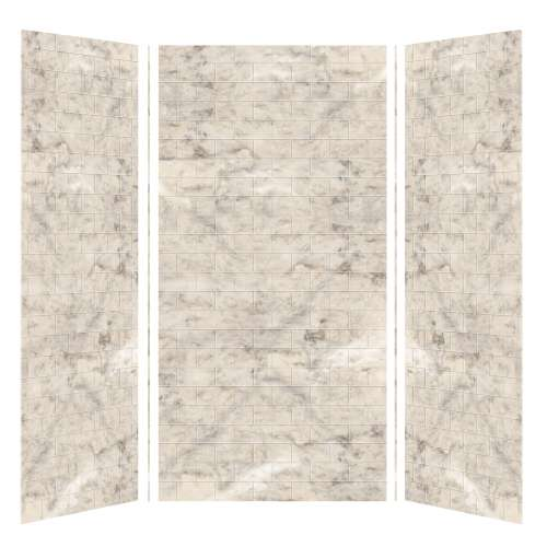 Transolid SaraMar 36-In X 48-In X 96-In Glue to Wall 3-Piece Shower Wall Kit