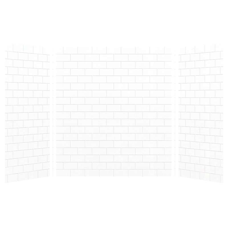 Transolid SaraMar 36-In X 60-In X 72-In Glue to Wall 3-Piece Shower Wall Kit - In Multiple Colors