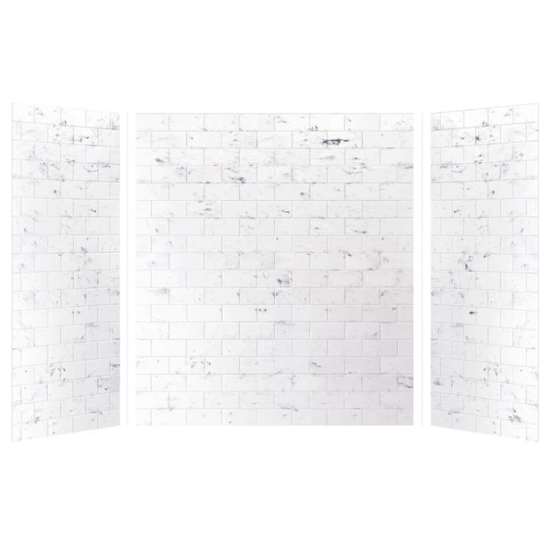Transolid SaraMar 36-In X 60-In X 72-In Glue to Wall 3-Piece Shower Wall Kit
