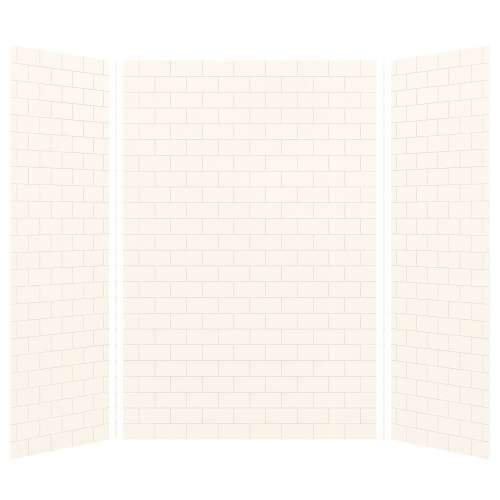 Transolid SaraMar 36-In X 60-In X 96-In Glue to Wall 3-Piece Shower Wall Kit - In Multiple Colors