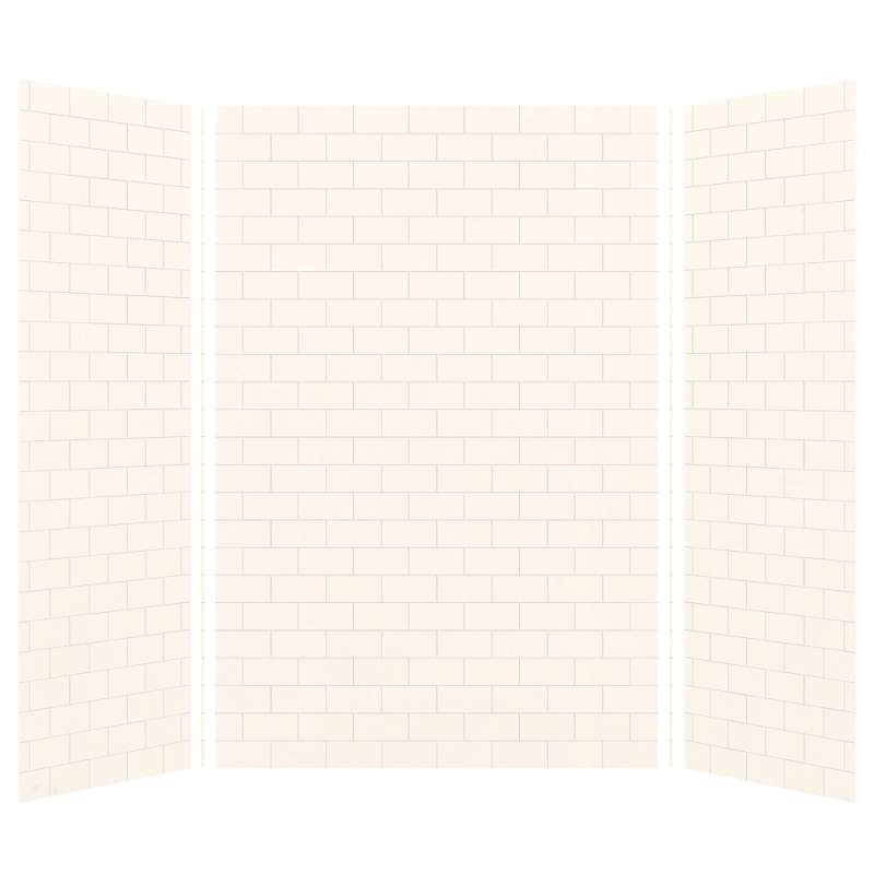 Transolid SaraMar 36-In X 60-In X 96-In Glue to Wall 3-Piece Shower Wall Kit